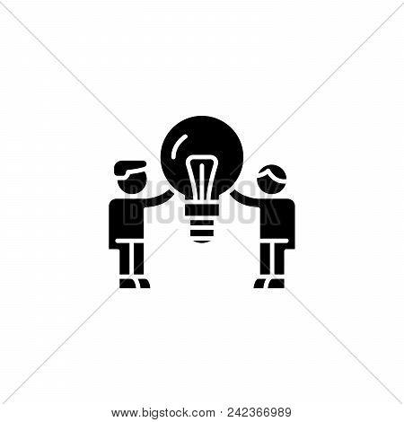 Consumer Demand Black Icon Concept. Consumer Demand Flat  Vector Website Sign, Symbol, Illustration.