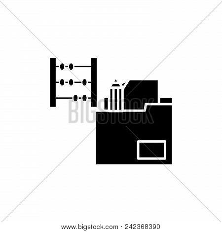 Delivery Invoice Black Icon Concept. Delivery Invoice Flat  Vector Website Sign, Symbol, Illustratio