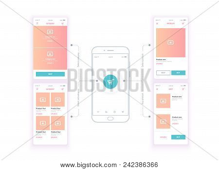 A Web Site Wireframe, A Page Layout Or A Screen That Represents The Skeletal Structure Of A Website,