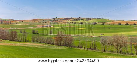 Panoramic Landscape Of Castilla Y Leon Close To Salamanca, Spain
