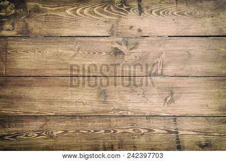 Dark Old Wood Board Use For Background