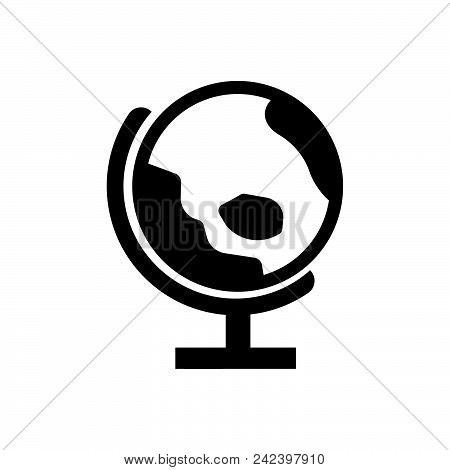 Globe Vector Icon On White Background. Globe Modern Icon For Graphic And Web Design. Globe Icon Sign