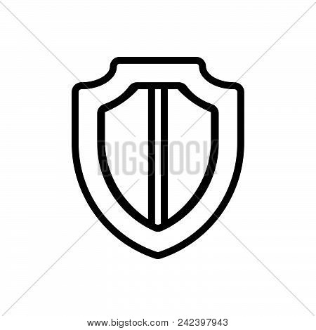 Shield Vector Icon On White Background. Shield Modern Icon For Graphic And Web Design. Shield Icon S