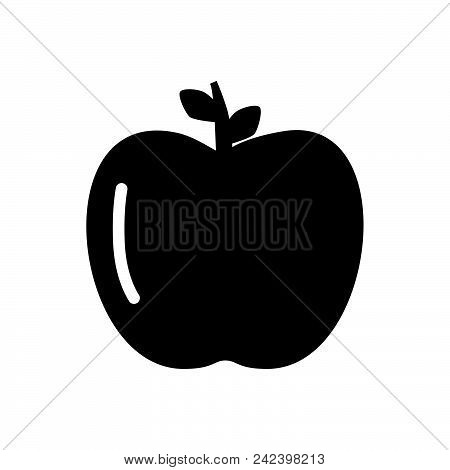 Apple Vector Icon On White Background. Apple Modern Icon For Graphic And Web Design. Apple Icon Sign