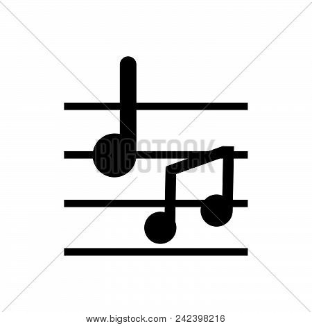 Musical Notes, Outlined Symbol Of Music Elements. Musical Notes Icon. Musical Notes Icon. Musical No