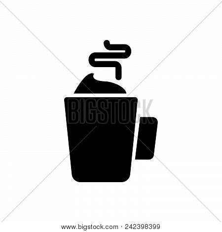 Hot Drink Vector Icon On White Background. Hot Drink Modern Icon For Graphic And Web Design. Hot Dri