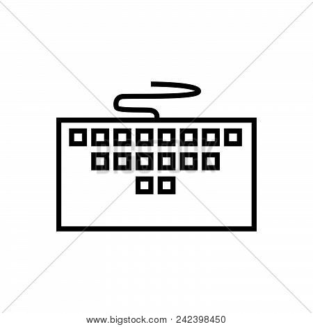 Computer Keyboard Vector Icon On White Background. Computer Keyboard Modern Icon For Graphic And Web