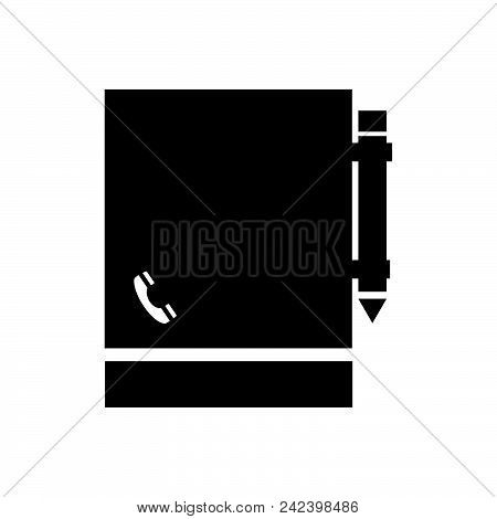 Notebook Vector Icon On White Background. Notebook Modern Icon For Graphic And Web Design. Notebook