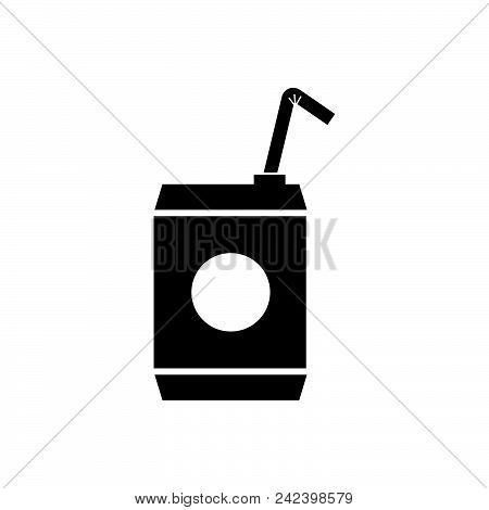 Soft Drink Vector Icon On White Background. Soft Drink Modern Icon For Graphic And Web Design. Soft