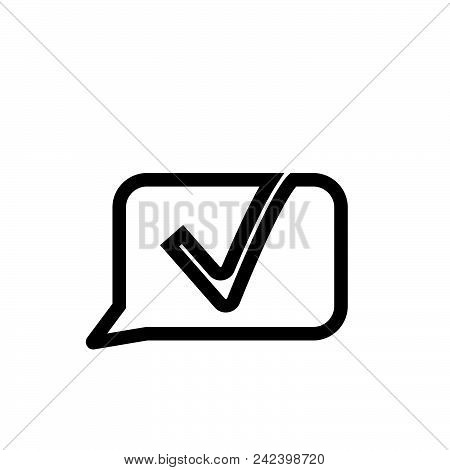 Chat Vector Icon On White Background. Chat Modern Icon For Graphic And Web Design. Chat Icon Sign Fo