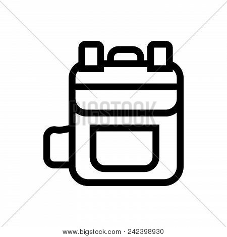 Leather Backpack Outlned Outlined Symbol Of Rucksack. Backpack Icon. Backpack Icon Vector Eps. Backp