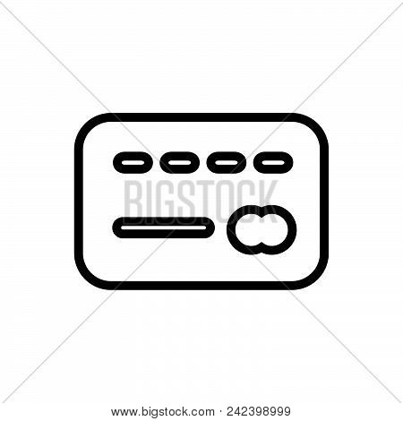 Credit Card, Outlined Symbol Of Plastic Card. Credit Card Icon. Credit Card Icon Vector Eps. Credit