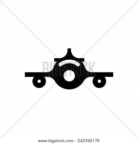 Flying Plane Vector Icon On White Background. Flying Plane Modern Icon For Graphic And Web Design. F
