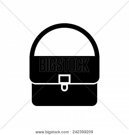 Woman Bag Vector Icon On White Background. Woman Bag Modern Icon For Graphic And Web Design. Woman B