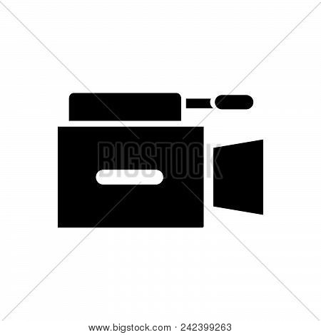 Video Camera With Microphone. Video Camera Icon. Video Camera Icon Vector Eps. Video Camera Icon Ima