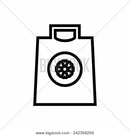 Shopping Bag, Outlined Shopping Pouch Symbol. Shopping Bag Icon. Shopping Bag Icon Vector Eps. Shopp