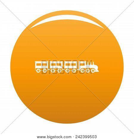 Compartment Train Icon. Simple Illustration Of Compartment Train Vector Icon For Any Design Orange