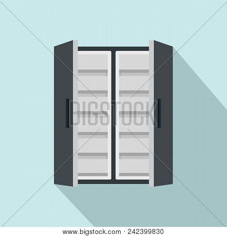 Double Door Freeze Icon. Flat Illustration Of Double Door Freeze Vector Icon For Web Design