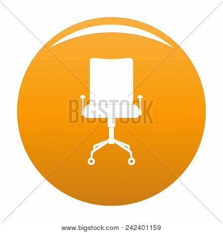 Leather Chair Icon. Simple Illustration Of Leather Chair Vector Icon For Any Design Orange