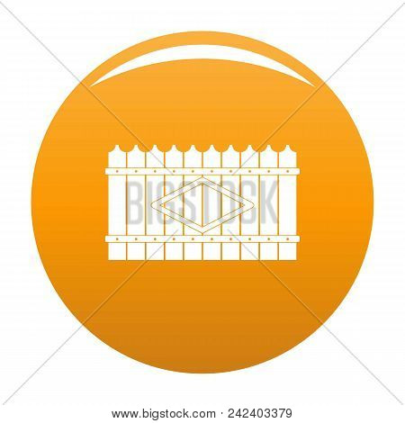 Wooden Peak Fence Icon. Simple Illustration Of Wooden Peak Fence Vector Icon For Any Design Orange