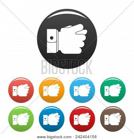 Hand Greed Icon. Simple Illustration Of Hand Greed Vector Icons Set Color Isolated On White