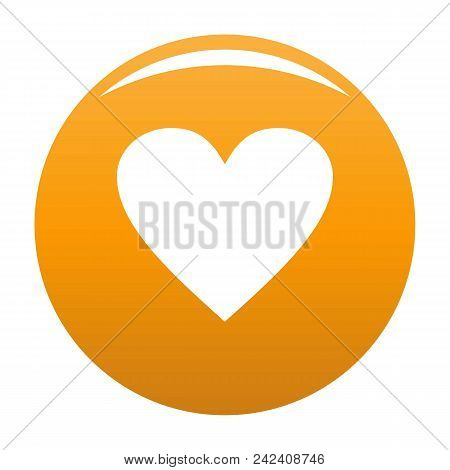 Dull Heart Icon. Simple Illustration Of Dull Heart Vector Icon For Any Design Orange