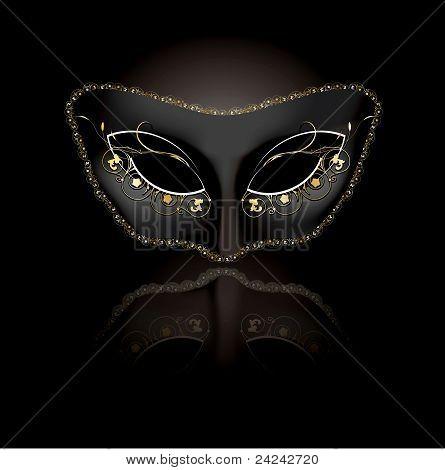 Máscara veneciana con fondo negro