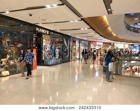 Bangkok Thailand 26 May 2018: Many People Walking And Shopping In Central Lad Prow Department Store