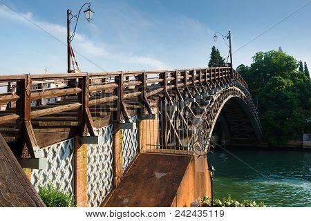 Accademia Bridge In Venice. Region Veneto. Italy
