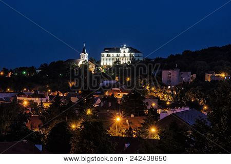 Church Of Mother God And Missionary Museum, Calvary In Nitra City, Slovak Republic. Religious Archit