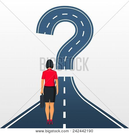 Road Forward In Form Of A Question Mark