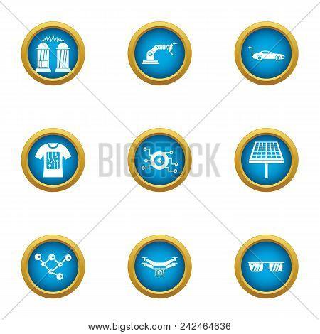 Alternative Energy Icons Set. Flat Set Of 9 Alternative Energy Vector Icons For Web Isolated On Whit
