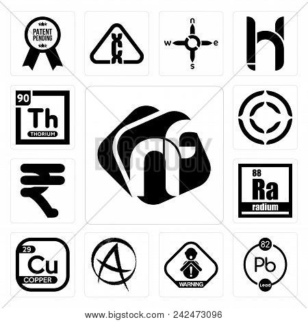 Set Of 13 Simple Editable Icons Such As Nf, Chemical, Choking Hazard, Punk Anarchy, Copper, Radium,