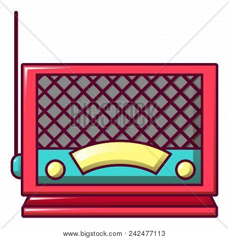 Old Fashion Radio Icon. Cartoon Of Old Fashion Radio Vector Icon For Web Design Isolated On White Ba