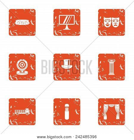 Submission Icons Set. Grunge Set Of 9 Submission Vector Icons For Web Isolated On White Background