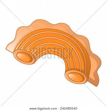 Creste Di Gallo Pasta Icon. Cartoon Of Creste Di Gallo Pasta Vector Icon For Web Design Isolated On