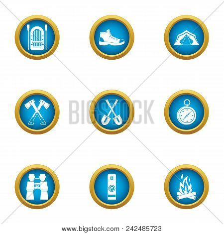 Journey To The Mystery Icons Set. Flat Set Of 9 Journey To The Mystery Vector Icons For Web Isolated