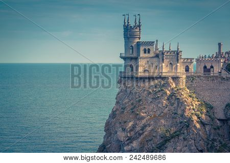 Swallow's Nest Castle At The Precipice In Crimea