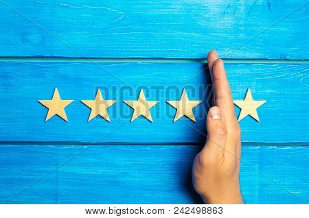 The Hand Divides The Fifth Star From The Four Others. Rating 5 Stars, 4 Stars. Overview Of Restauran