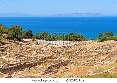 The ancient city of Kamiros located in the northwest of the island of Rhodes. poster