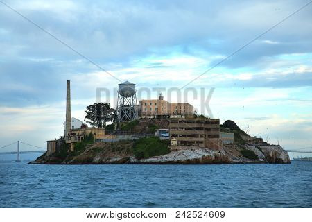 Alcatraz island in san Francisco bay in United States