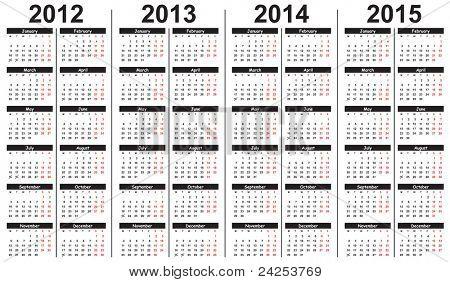 2013 Calendar Template Images Illustrations Vectors Free Bigstock