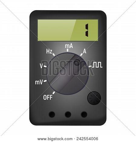 Multimeter For Measuring Current And Voltage. Vector Illustration. Ammeter And Voltmeter.