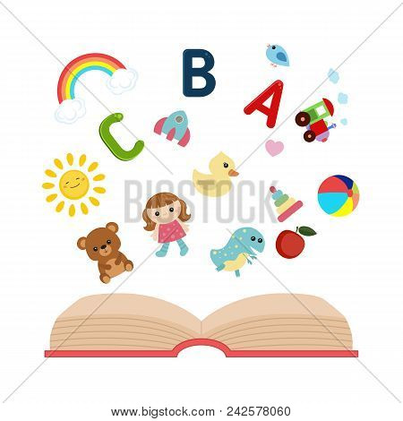 Open Book With Children's Icons