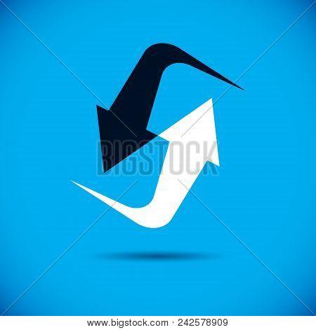 Vector Upward Trend Of Business Development. Corporate Development Logo . Company Growth Concept.