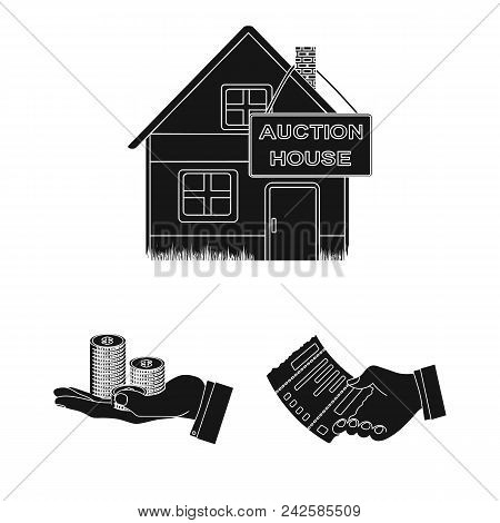 E-commerce And Business Black Icons In Set Collection For Design. Buying And Selling Vector Symbol S