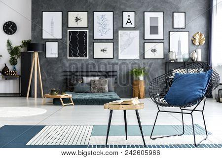 Armchair In Cozy Bedroom Interior