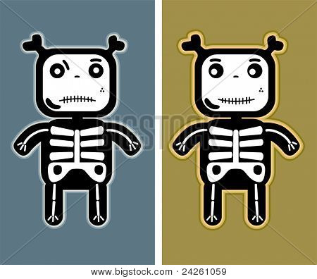 illustration - funny child bones