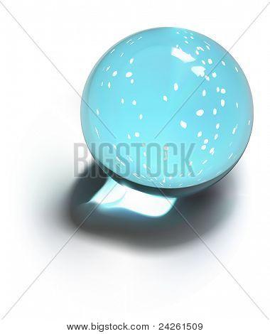 Vector snow-dome or crystal ball