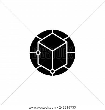 Global Perspectives Black Icon Concept. Global Perspectives Flat  Vector Website Sign, Symbol, Illus